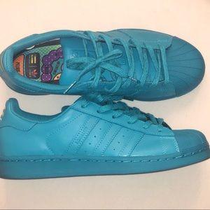 Pharrell Williams x Adidas Teal Shelltoes . Sz 7y